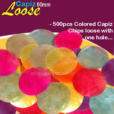 60mmColoredCapizLoose Delivered anywhere in the world