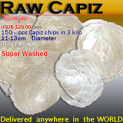 Capiz RawXL Delivered anywhere in the world