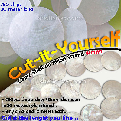 40mmCut-it Capiz Strand Delivered anywhere in the world